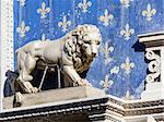 An image of a Lion Statue in Florence