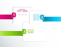 vector design template with numbered ribbons Stock Photo - Royalty-Freenull, Code: 400-07307295