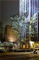 restaurant new york manhattan - Rockefeller Center Promenade and Channel Gardens at night, Rockefeller Center, Midtown, Manhattan, New York City, New York, USA Stock Photo - Premium Rights-Managednull, Code: 700-07310310
