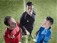 Soccer players facing each other on field Stock Photo - Premium Royalty-Freenull, Code: 6113-07310567