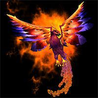 frbird - The Phoenix bird is a legend and symbol of renewal and new beginnings. Stock Photo - Royalty-Freenull, Code: 400-07326601