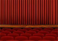 Theater Seats and Red Curtains Stock Photo - Royalty-Free, Artist: razihusin, Code: 400-07329632