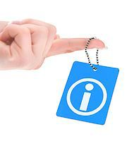 hand holding information tag over white background Stock Photo - Royalty-Freenull, Code: 400-07330985