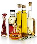 Cooking Oil Collection On White Background