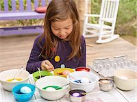 Easter egg coloring and egghunt Stock Photo - Premium Royalty-Freenull, Code: 6106-07349597
