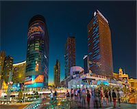 The Cosmopolitan on right and CityCenter on left, The Strip, Las Vegas, Nevada, United States of America, North America Stock Photo - Premium Rights-Managednull, Code: 841-07355233