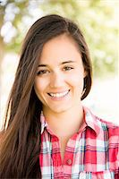 portrait smile caucasian one - Portrait of Young Woman Smiling Stock Photo - Premium Rights-Managednull, Code: 822-07355564