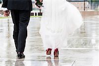 Bride and Groom Walking away from Camera Stock Photo - Premium Rights-Managed, Artist: Ikonica, Code: 700-07363856
