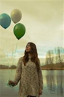 Portrait of Young Woman Outdoors with Balloons, Mannheim, Baden-Wurttemberg, Germany Stock Photo - Premium Rights-Managed, Artist: Uwe Umstätter, Code: 700-07364029