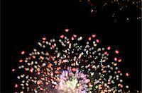 exploding - Fireworks exploding in night sky Stock Photo - Prem