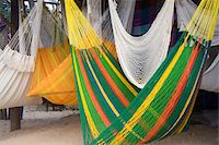 Mexican Hammocks Stock Photo - Premium Royalty-Freenull, Code: 618-07385508
