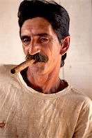 cuban farmeer with cigar Stock Photo - Premium Royalty-Freenull, Code: 618-07392499