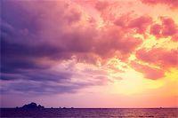 Tropical sunset on the beach. Ao-Nang. Krabi. Thailand Stock Photo - Royalty-Freenull, Code: 400-07410505