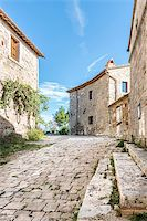 Street in San Quirico in Tuscany, Italy Stock Photo - Royalty-Freenull, Code: 400-07415197