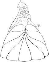 Vector illustration coloring page of a beautiful asian princess. Stock Photo - Royalty-Freenull, Code: 400-07421460