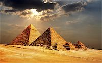 giza pyramids, cairo, egypt Stock Photo - Royalty-Freenull, Code: 400-07424455