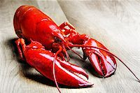 Red Lobster on wood Stock Photo - Royalty-Freenull, Code: 400-07424609