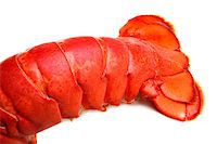 Lobster tail on white background Stock Photo - Royalty-Freenull, Code: 400-07424616