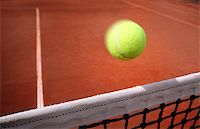 Tennis balls on Court Stock Photo - Royalty-Freenull, Code: 400-07424726