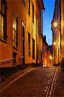 Stockholms old city at night Stock Photo - Royalty-Freenull, Code: 400-07425279