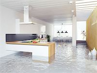 flooded homes - flooding kitchen modern interior (3D concept) Stock Photo - Royalty-Freenull, Code: 400-07427674