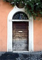 Door in the Trastevere district in Rome, Italy Stock Photo - Royalty-Freenull, Code: 400-07427858