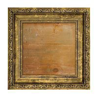 Ruined golden frame with wooden interior isolated on white Stock Photo - Royalty-Freenull, Code: 400-07428688
