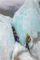 Ice climbers on Fox Glacier, South Island, New Zealand Stock Photo - Premium Royalty-Freenull, Code: 649-07436619
