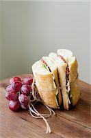Ciabata and grapes Stock Photo - Premium Royalty-Freenull, Code: 649-07436731