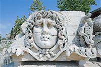 Medusa head, close-up, Didyma, Anatolia, Turkey, Asia Minor, Asia Stock Photo - Premium Royalty-Freenull, Code: 649-07436869