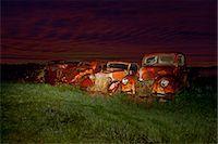 Vintage cars abandoned in scrap yard Stock Photo - Premium Royalty-Freenull, Code: 649-07437388