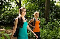 Women out walking in forest Stock Photo - Premium Royalty-Freenull, Code: 649-07438068