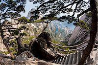 extreme terrain - Huang Shan landscape, China Stock Photo - Premium Royalty-Freenull, Code: 6118-07440001