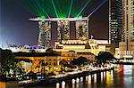 Marina Bay Sands Hotel and Fullerton Hotel, Singapore, Southeast Asia, Asia