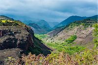 Hanapepe Valley lookout, Kauai, Hawaii, United States of America, Pacific Stock Photo - Premium Royalty-Freenull, Code: 6119-07443842