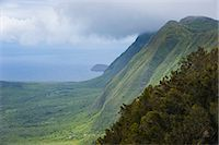 Kalaupapa overlook on the island of Molokai , Hawaii, United States of America, Pacific Stock Photo - Premium Royalty-Freenull, Code: 6119-07443880