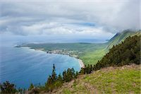 Kalaupapa viewpoint on the island of Molokai , Hawaii, United States of America, Pacific Stock Photo - Premium Royalty-Freenull, Code: 6119-07443881