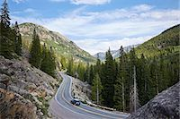 remote car - Car on winding highway, Aspen, Colorado, USA Stock Photo - Premium Royalty-Freenull, Code: 614-07444377