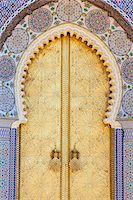 Royal Palace door, Fes, Morocco, North Africa, Africa Stock Photo - Premium Royalty-Freenull, Code: 6119-07451594