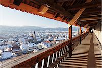 small town snow - High angle view from the castle of the old town of Esslingen in winter, Baden Wurttemberg, Germany, Europe Stock Photo - Premium Royalty-Freenull, Code: 6119-07451849