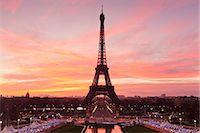 Eiffel Tower at sunrise, Paris, Ile de France, France, Europe Stock Photo - Premium Royalty-Freenull, Code: 6119-07451864
