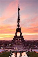 Eiffel Tower at sunrise, Paris, Ile de France, France, Europe Stock Photo - Premium Royalty-Freenull, Code: 6119-07451865