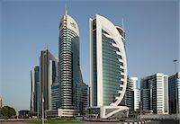 futuristic - Futuristic skyscrapers downtown in Doha, Qatar, Middle East Stock Photo - Premium Royalty-Freenull, Code: 6119-07452732