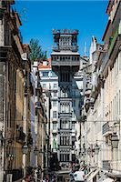 The old Elevador de Santa Justa in Lisbon, Portugal, Europe Stock Photo - Premium Royalty-Freenull, Code: 6119-07452967