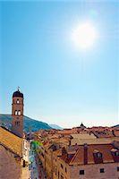 The Stradun (Placa Ulica) and Tower of the Franciscan Monastery, Old Town (Stari Grad), UNESCO World Heritage Site, Dubrovnik, Dalmatia, Croatia, Europe Stock Photo - Premium Royalty-Freenull, Code: 6119-07453047