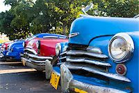 Close-up of vintage cars parked on the street in Havana, Cuba, UNESCO Word Heritage Site Stock Photo - Premium Rights-Managednull, Code: 700-07453776