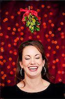 Christmas: Under the Mistletoe Stock Photo - Premium Royalty-Freenull, Code: 6106-07455289