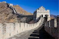 The ancient Great Wall of China snaking through mountains at Mutianyu, north of Beijing (formerly Peking) Stock Photo - Premium Rights-Managednull, Code: 841-07457212