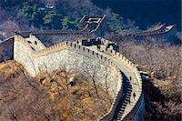 The ancient Great Wall of China snaking through mountains at Mutianyu, north of Beijing (formerly Peking) Stock Photo - Premium Rights-Managednull, Code: 841-07457214