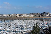 Marina and main town, St. Malo, Britta